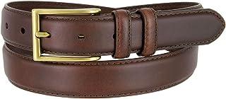 "Goffredo 1 1/8"" (30mm) Oil-Tanned Genuine Italian Leather Dress Belt for Men"