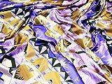 Streifen Stretch Satin Kleid Stoff lila &