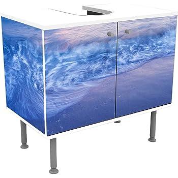 wandmotiv24 Mueble de baño Olas de Playa al Atardecer Pegado Frontal y Lateral Lavabo, Mueble Lavabo M0895: Amazon.es: Hogar