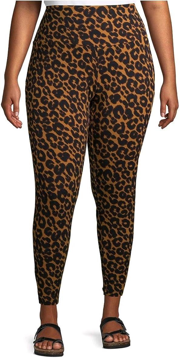 Terra & Sky Leopard Soft Ultimate Plus Size Full Length Legging