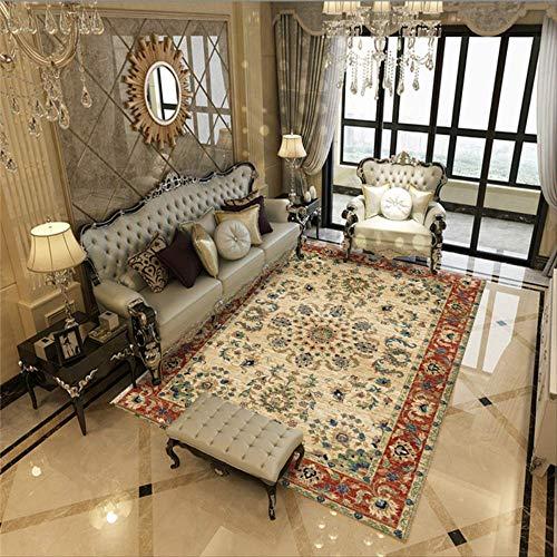 JUNYYANG Manta de área de Suave Cubierta de alfombras Mat Sala de Estar Mesa Alfombra Moderna Minimalista del Arte Abstracto de la Alfombra Dormitorio de Noche Mat (2 Unidades)