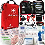 ARMAPREP Compact First Aid Kit - IFAK with Rapid Response Labels, MOLLE, Tourniquet & Survival Tools - Small First Aid Kit for Car Camping Hiking