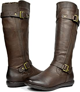 DREAM PAIRS Women's Faux Fur-Lined Knee High Winter Boots