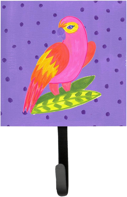 Caroline's Treasures LD6148SH4 Bird-Parred Leash Holder or Key Hook, Small, Multicolor