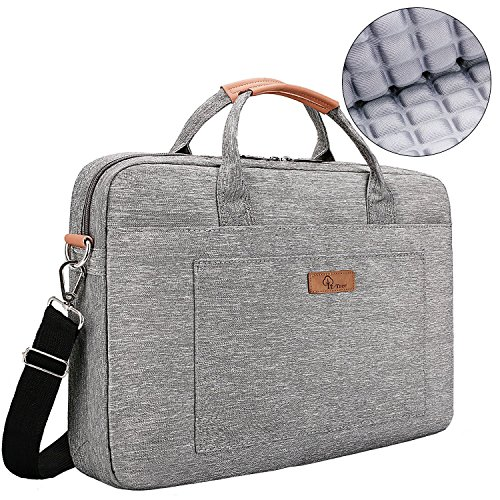 E-Tree 13.3 inch Laptop Sleeve 13 to 14 inch Shockproof Computer Shoulder Bag Briefcase,Grey