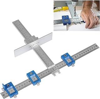 QLOUNI Localizador de Punzones Abrazadera para armario, plantilla, herramienta de medición, perforación de madera,etc