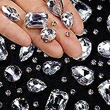 156 Diamantes de Imitación de Coser de Vidrio Transparente Diamantes Imitación...