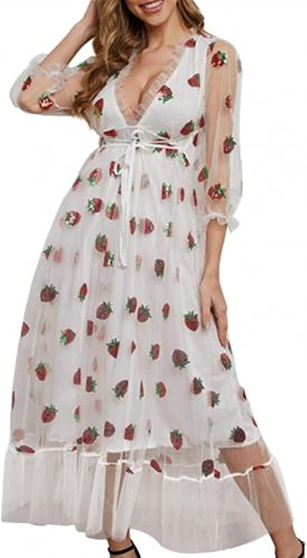 Dress sequin dress V-neck lace mesh gauze Suitable for banquet, party, wedding, prom, cocktail party
