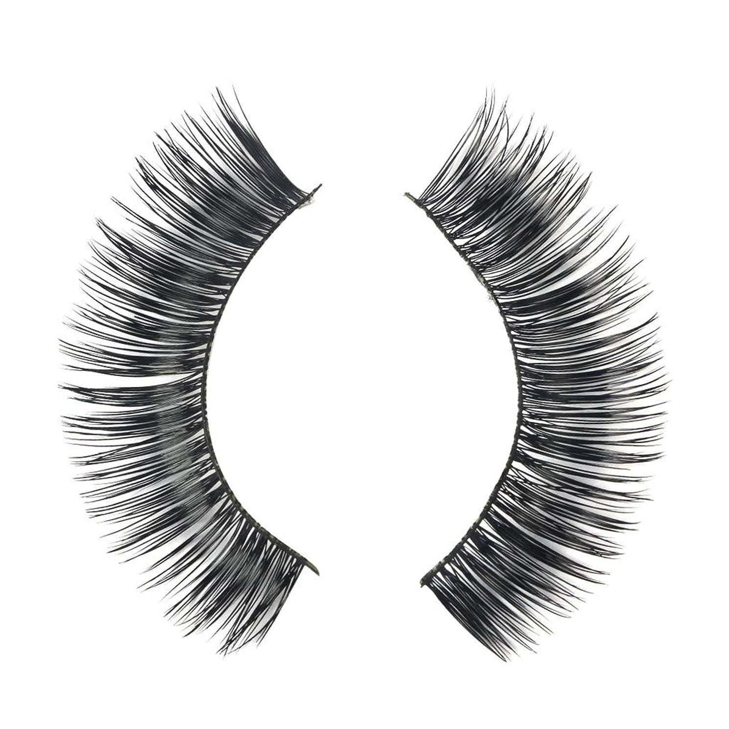 ご飯午後無実ミンクの毛の自然な厚くなる化粧品の3D版のための一組のまつげ