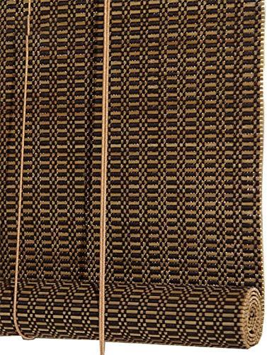 RENQIAN rolgordijnen 90% verduisterd bamboe rolgordijnen/rolgordijnen met 15Cm Valance voor ramen en deuren geschikt voor een variëteit (Maat: 86X150Cm)