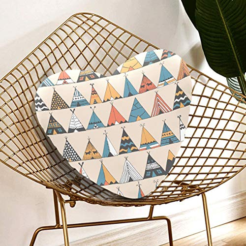 Rtosd Print Throw Pillows Teepee Native American Summer Living Room Decorative Pillows 13.78 X 13.78 Inch Heart-shaped Cushion Gift For Friends/children/girl/valentine's Day