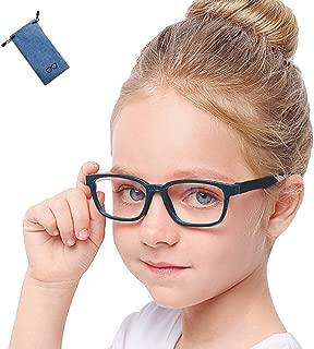 ブルーライト カット メガネ キッズ こども用 パソコン 用 子供 専用 子ども 視力 (ネイビー)