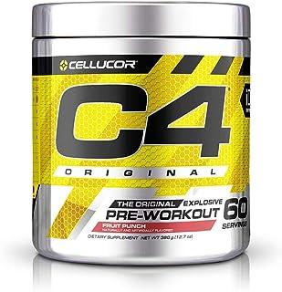 Cellucor International Version C4 オリジナルプレワークアウトパウダー フルーツポンチ 60杯分 [海外直送品]