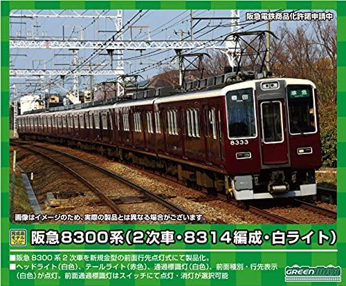 グリーンマックス Nゲージ 阪急8300系 (2次車・8314編成・白ライト)基本6両編成セット (動力付き) 31521 鉄道模型 電車