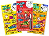 Invisible Ink Yes & Know Ink Book Set for Kids ~ Bundle Set of 3 Activity Books with Games, Puzzles, Trivia with Magic Invisible Ink Pens - Travel Games for Kids in Car
