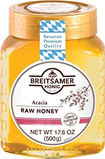 Breitsamer Acacia Honey Jar, 17.6 Ounce (Pack of 6)
