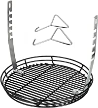 QuliMetal Adjustable Fire Grate, Ash Basket, BBQ Temperature Controlling Grill Replacement Part Accessories for Chargriller Kamado, Akorn Charcoal Grills & Most Charcoal Kamado Grills
