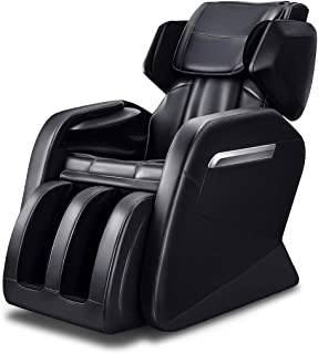 Massage Chair, WOVTE Affordable Electric Full Body Zero Gravity FDA Approved Shiatsu Massaging Chair Recliner with Heat, Foot Roller and Air Massage System for Home Office Use, Black