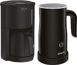Krups Pro Aroma filterkaffemaskin med termokanna och mjölkskummare, droppfri funktion, upp till 10 koppar och varm 4 timma...
