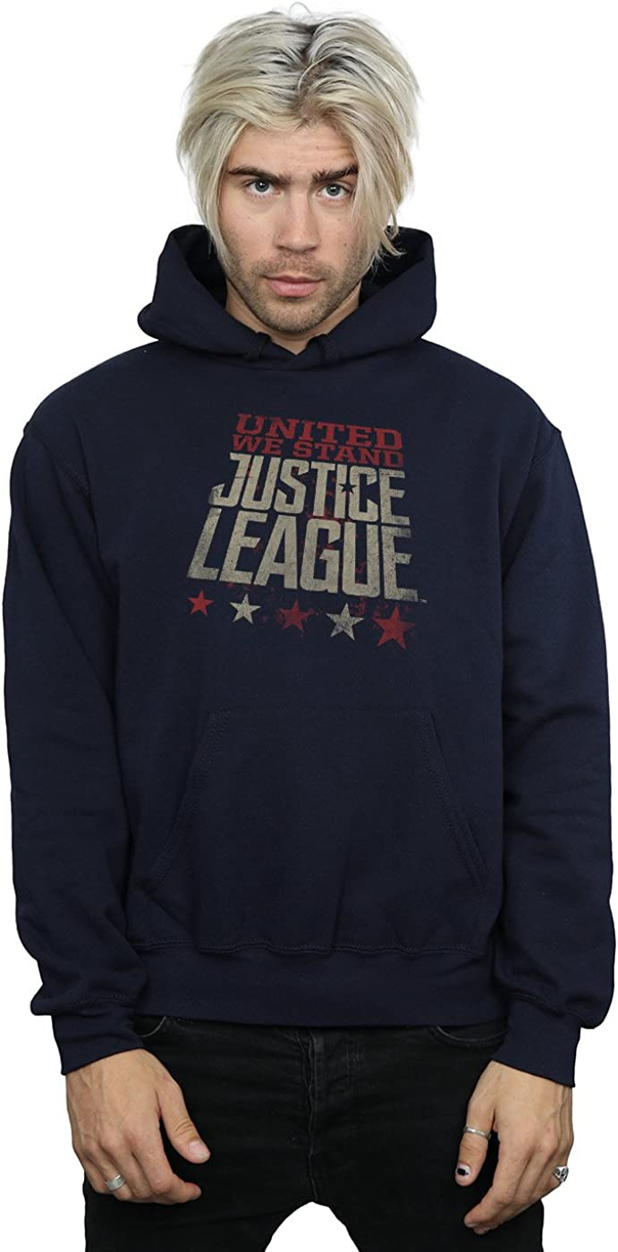 DC Comics Men's Justice League Movie United We Stand Hoodie