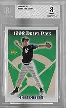 1993 Topps Derek Jeter Rookie Card #98 Beckett NM-MT 8