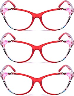 Aiweijia men women 3 packs Cat eye reading glasses Full frame spring hinges new style fashionh high quality comfortable Unisex reading glasses
