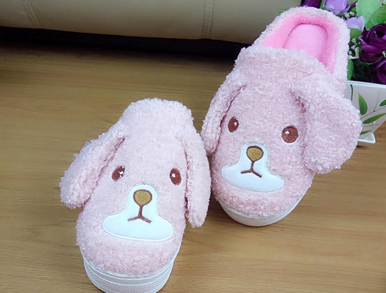 DMMSS Ladies Winter Home shoes Thick Plush Slippers Indoor Slippers Slippers High-Heeled Thick Cotton Slippers Month shoes Warm shoes