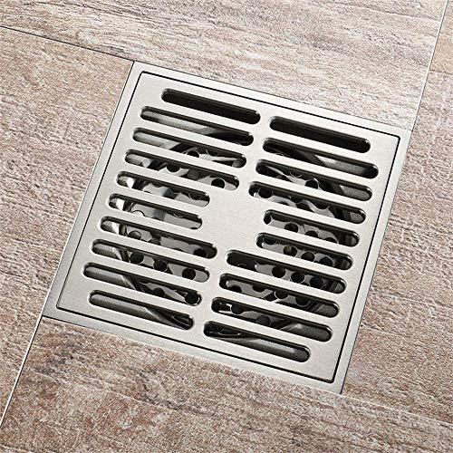 Vierkante Messing Afvoerputje Badkamer Keuken Tuin Douche Afvoer Deodorant Grote Stroom Drainage Afvoerputje met…