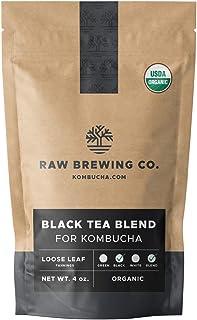 Sponsored Ad - Kombucha.com Certified Organic Loose Leaf Tea - Kombucha Brewing Blends (Black Tea Blend, 1/4 Pound + 100 X...