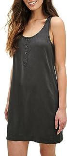 Women's Casual Mid-Length One-Piece Dress Sleeveless...