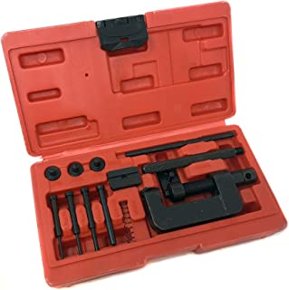Chain Breaker Riveter 13 Piece Set with Carrying Case | Chain Cutter and Riveter Tool Set for Motorcycles Mopeds ATVs