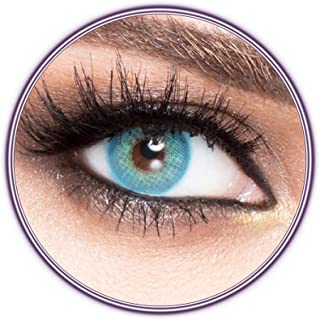 Unisex Luminous Contact Lenses, Luminous Blue, Cosmetic Contact Lenses, Yearly Disposable, Blue Color