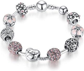 Pandora Element Bracelet DIY Charm Beads Silver Plated Wrist Chain Love Gift