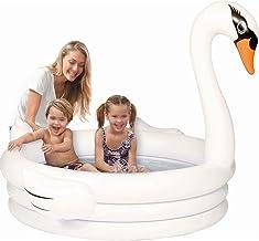 LYX Piscina for niños Flamingo Piscina Inflable del Cisne Blanco for niños Piscina Inflable al Aire Libre Piscina Flotante Inflable (Color : White)