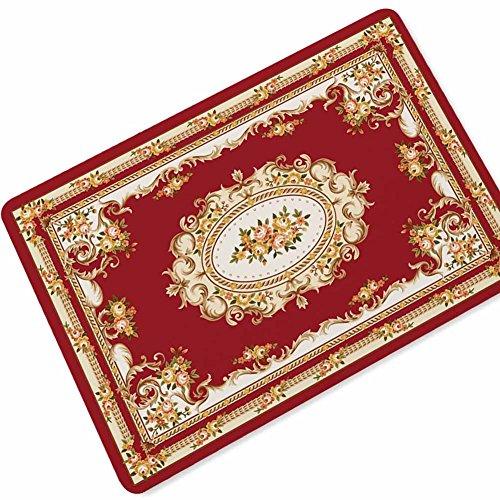 YCLOTH 3D-deurmat, Perzische stijl bedrukt antislip rubberen vloermat, woonkamer slaapkamer salontafel geometrisch tapijt badkamer