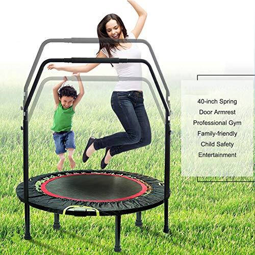 Fitness-trampoline met inklapfunctie, rebounder-trampoline met in hoogte verstelbare handgreep, maximaal gewicht 130 kg