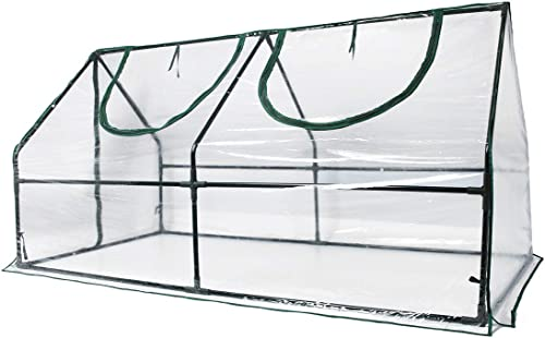 "Quictent Waterproof UV Protected Reinforced Mini Cloche Greenhouse 95"" WX 36"" D X 36"" / 71"" WX 36"" D X 36"" H Portable..."