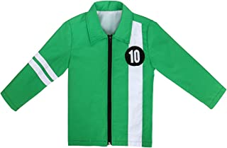 Ben Green Jacket Aliens Force Kids Boys Benjamin Irby Tennyson Halloween Cosplay Costume Fancy Dress Shirt