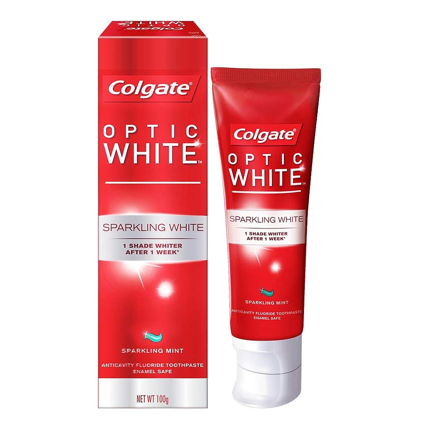 突破口着飾るガイドラインコールゲート オプティック ホワイト スパークリングシャイン 100g 歯磨き粉 Colgate Optic White Sparkling Shine 100g Tooth Paste