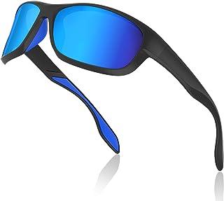 Gafas de Sol Hombres Polarizadas Gafas Deportivas Unisex Anti UV400 Marco TR90 Súper Ligero y Mujer Ciclismo MTB Running Coche Moto Montaña