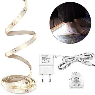 comprar comparacion kwmobile Luz LED para cama con sensor - Tira de luz regulable - Cinta de luces con sensor de movimiento - Iluminación en b...