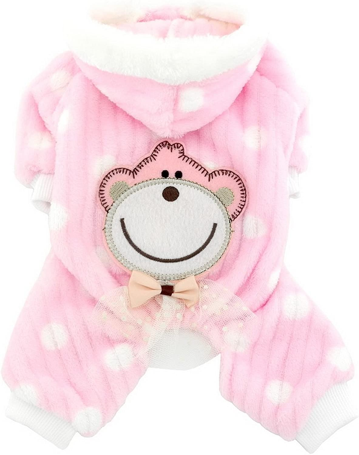 Smalllee_lucky_store Soft Velvet Cute Monkey Sweaters Pink Large