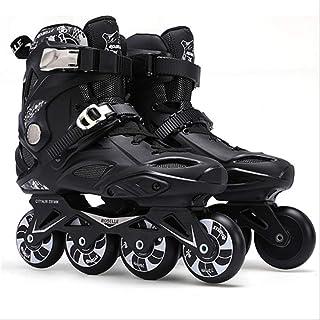 ZLSANVD Roller Skates Adults Inline Skates Freestyle Slalom Boots Rocked Wheels Skate Roller Women Men 43 Black