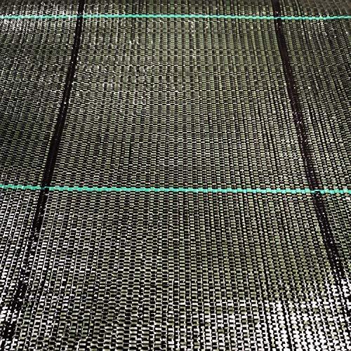 ITALFROM Bâche pour paillage Noir quadrillé Tissu polypropylène Anti-déchirure - 50 x 1,05 h m