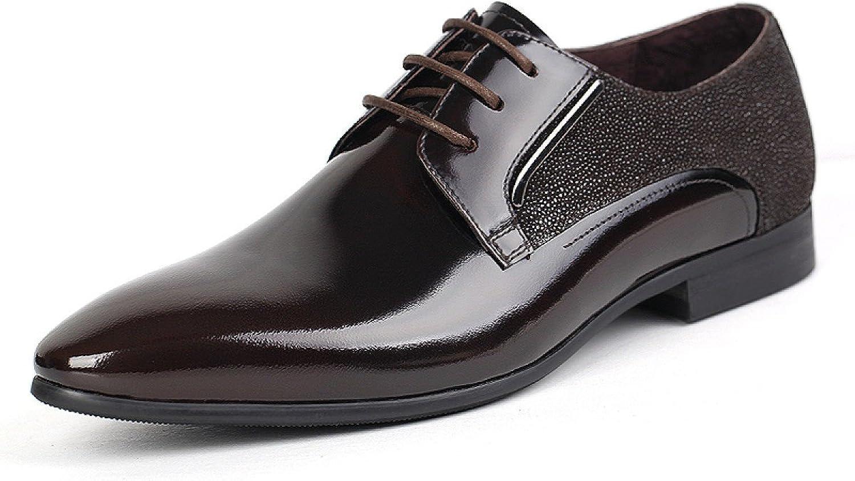 LEDLFIE Mans skor Business läder skor Business Dress Mode Lace