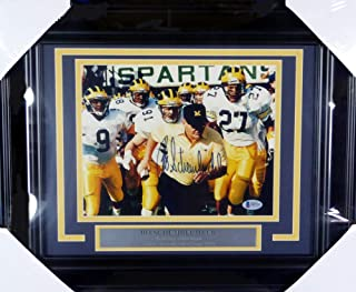 Bo Schembechler Autographed Signed Framed 8x10 Photo Michigan Wolverines - Beckett Authentic