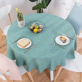 [QIFENGDIANZI]テーブルクロス 円形 ダイニングテーブル 無地 シンプル 撥水 耐熱 滑り止め 防油 防塵 テーブルカバー 無地 汚れ防止 おしゃれ 手入れ簡単 厚手 ティーテーブル 台所 キッチン用品 飾り 多用途 直経120cm