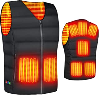 【2020最新型】 電熱ベスト ヒートベスト 加熱ベスト ヒートジャケット 加熱服 ダウンジャケット 8つの発熱エリア 3段階温度調整 電熱ウェア 超軽量 防寒ベストョッキ保暖服 男女兼用