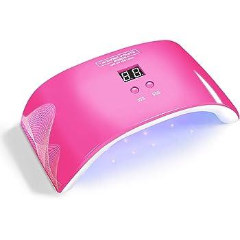 Lavender Violets Gel UV LED Nail Lamp Nail Light Pink 24W Nail Dryer with Timer n Auto-sensor for Gel Nail Polish J720