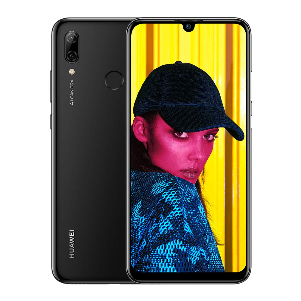 Huawei P Smart (2019) 64GB Mobile Phone, Black, Android 9.0 (Pie)
